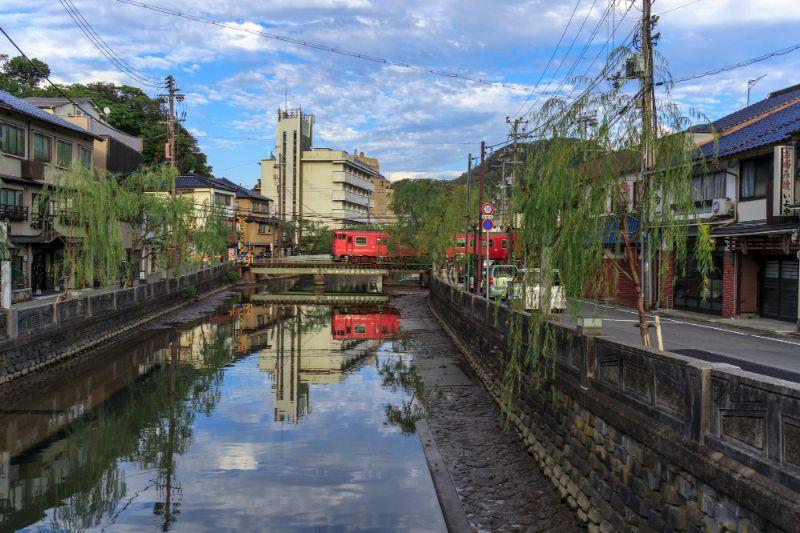 城崎溫泉的街景