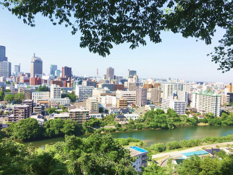 從神社望下去的仙台市景