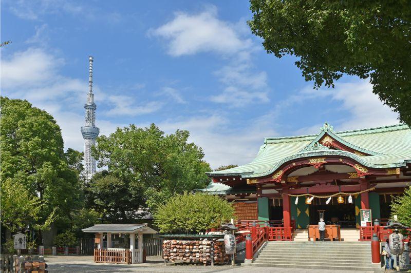 晴空塔與神社