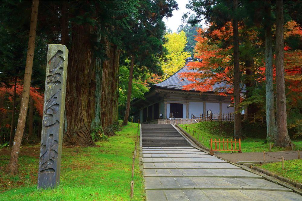 平泉 中尊寺的紅葉