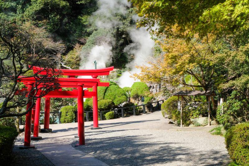 從阿蘇山看過去的景色