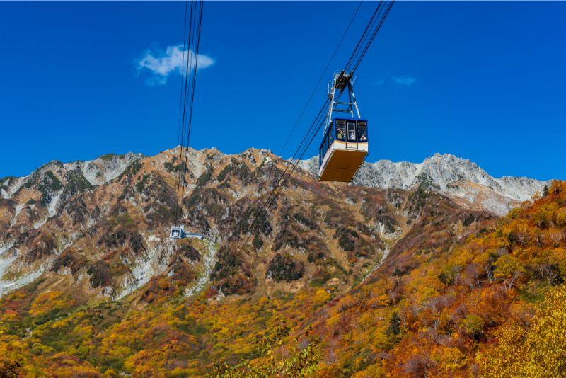 秋天的立山黑部