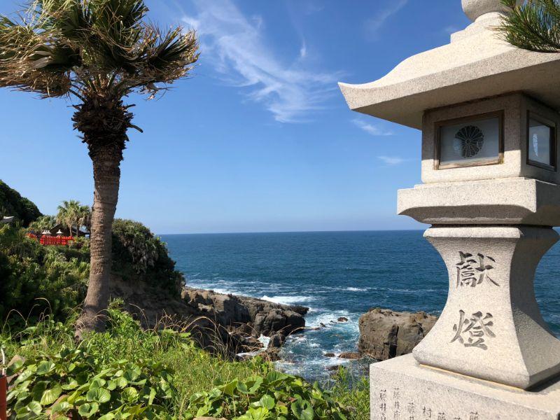 鵜戶神宮前的海