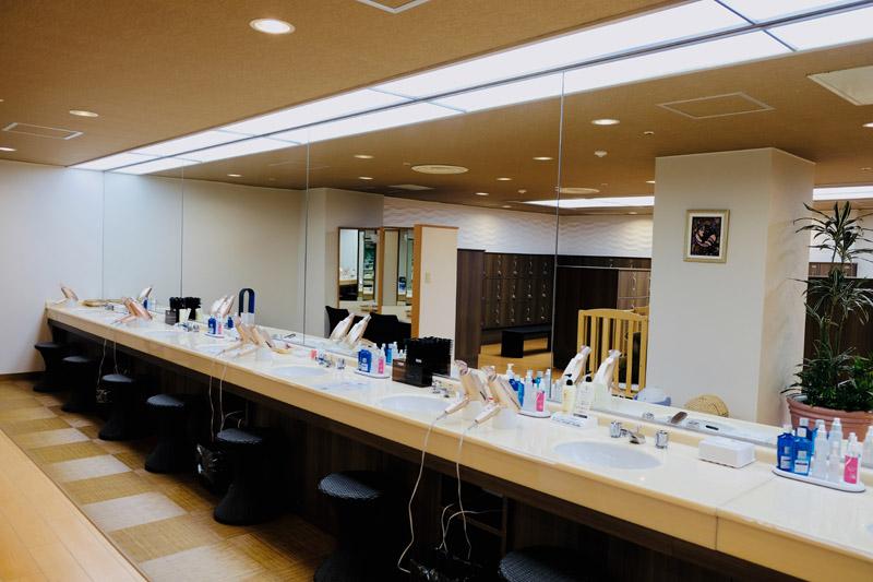 秀峰館大浴場「紅葉之湯」化妝間