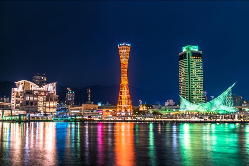 神戶・灣區的夜景