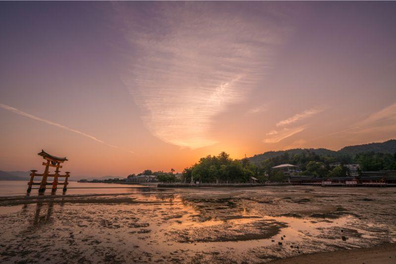 宮島的黎明