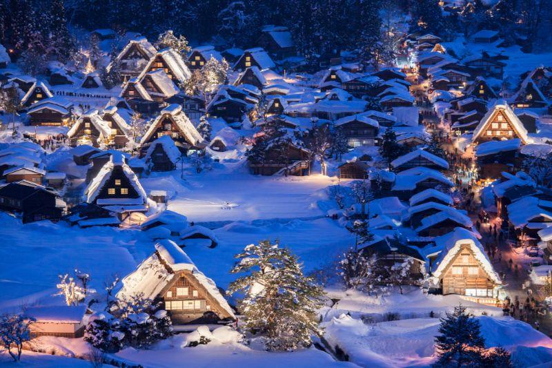 冬天的白川鄉