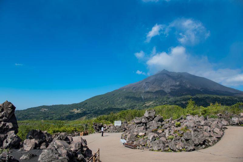 有村溶岩展望所的步道