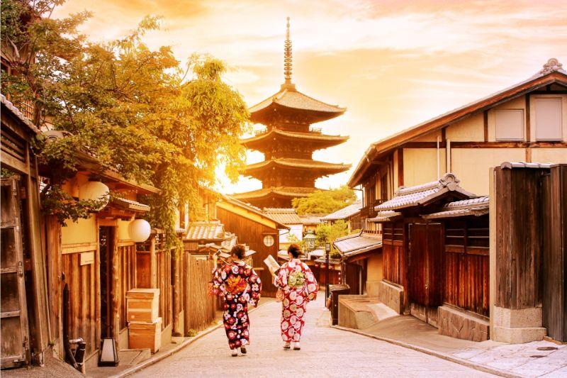 京都的夕陽