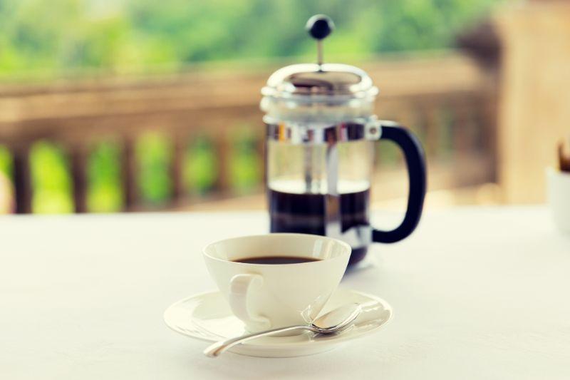 法式濾壓壺的咖啡