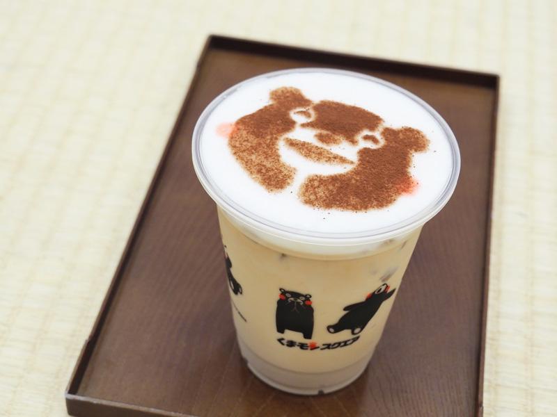 熊本熊部長圖案的咖啡