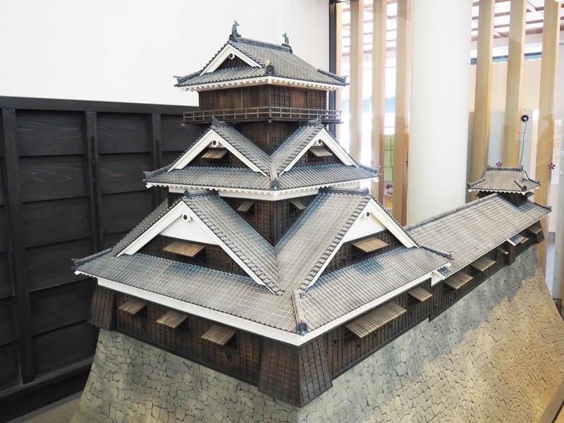 熊本城主城的建築模型
