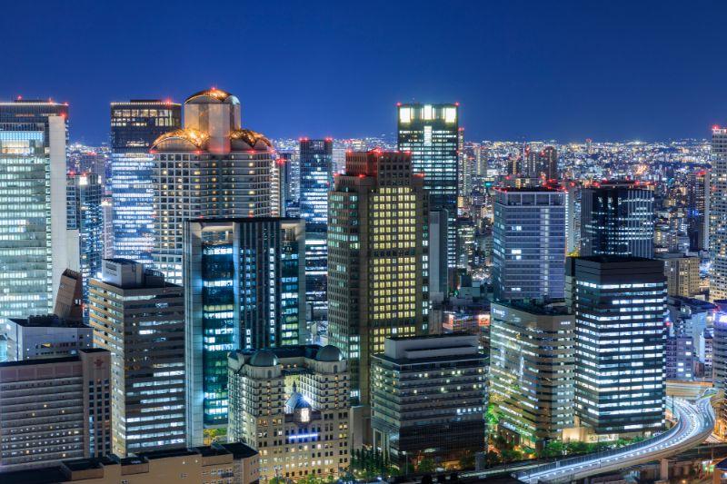 大阪梅田的夜景