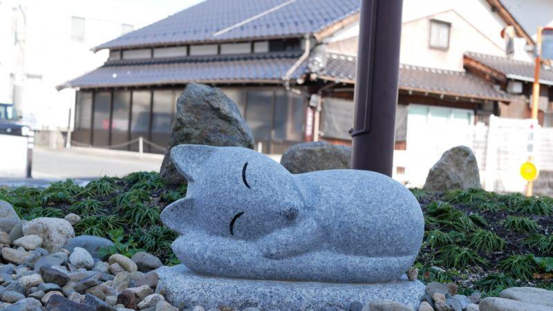 湯田溫泉設有狐狸的街景
