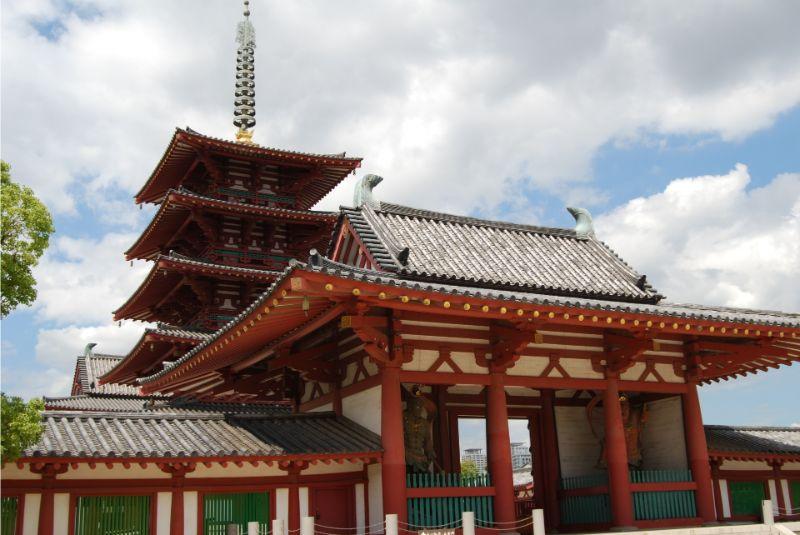 四天王寺的五重塔與金堂
