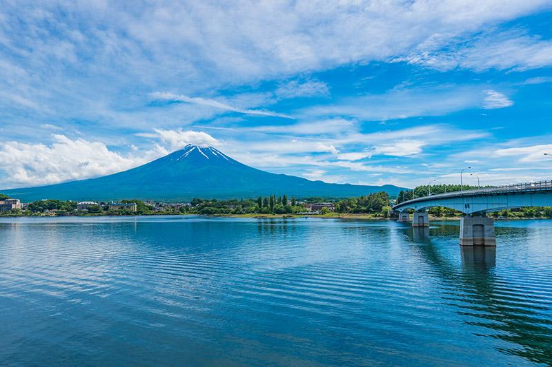 河口湖大橋與富士山