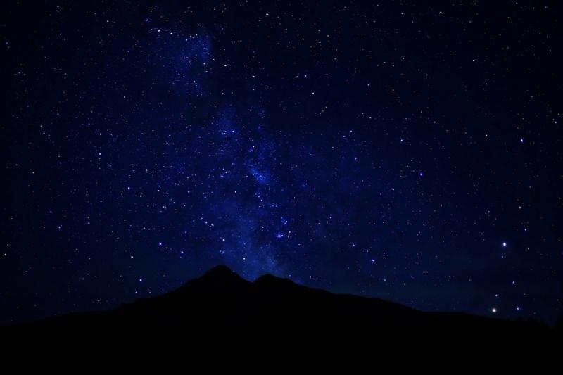 利尻富士與銀河