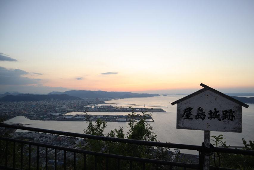 屋島山頂俯瞰瀨路內海