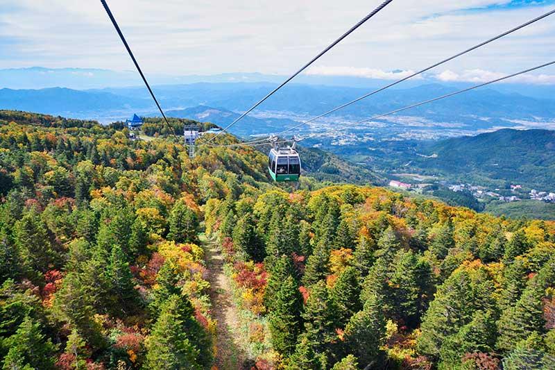 秋天的藏王纜車