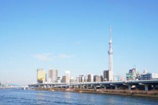 從藏前拍攝的隅田川及晴空塔