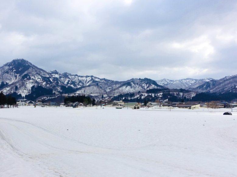 冬天的只見町雪景