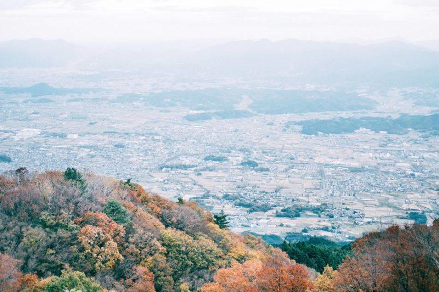 從山上一覽市景